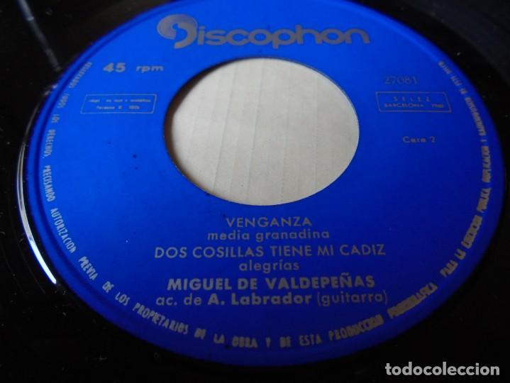 Discos de vinilo: single miguel de valdepeñas santanderina,un pino alto doblo,tomandome otra copa 1962,solo single - Foto 3 - 252155720