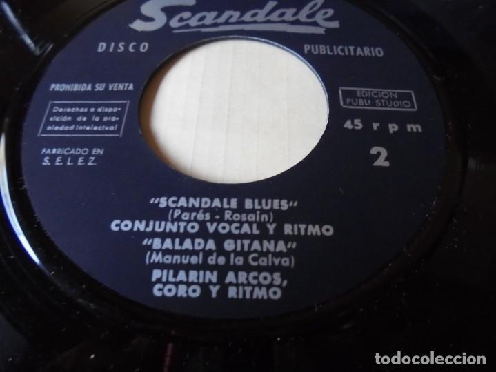 "Discos de vinilo: single hermanas allegue ""scandale blues"" del 1962,solo single - Foto 3 - 252156330"