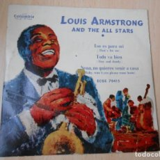Discos de vinilo: LOUIS ARMSTRONG AND THE ALL STARS, EP, ESO ES PARA MI (THAT´S FOR ME) + 2, AÑO 1959. Lote 252174140