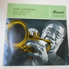 Discos de vinilo: LOUIS ARMSTRONG AND THE ALL STARS, EP, SKOKIAAN + 1, AÑO 1960. Lote 252174990