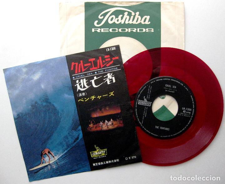 THE VENTURES - CRUEL SEA / THE FUGITIVE - SINGLE LIBERTY 1965 JAPAN RED (EDICIÓN JAPONESA) BPY (Música - Discos - Singles Vinilo - Rock & Roll)