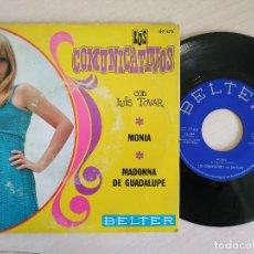 Discos de vinilo: LOS COMUNICATIVOS CON LUIS TOVAR - MONIA / MADONNA DE GUADALUPE (SINGLE 1969) VINILO NUEVO. Lote 252185225