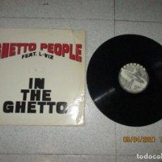 Discos de vinilo: GUETTO PEOPLE FEAT L-VIZ - IN THE GUETTO - MAXI - HOLLAND - DANCE POOL - LV -. Lote 252197110