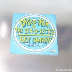 Discos de vinilo: DISCO TEX & THE SEX -0-LETTES ---GET DANCING ( PARTE 1 - PARTE 2 )-- --- -( NM OR M- ). Lote 252208905