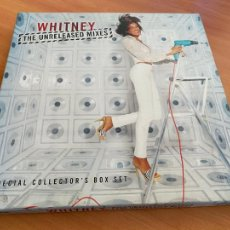 Discos de vinilo: WHITNEY HOUSTON (THE UNRELEASED MIXES) SPECIAL COLLECTOR'S BOX SET. 4 X MAXI (AT). Lote 252209285