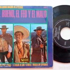 Discos de vinilo: EL BUENO EL FEO Y EL MALO - ENNIO MORRICONE - EP UNITED ARTIST HISPAVOX 1967. Lote 252220715