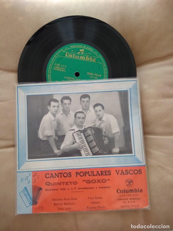 QUINTETO GOXO / MARICHU NORA ZUAS / EP 45 RPM / COLUMBIA / RENTERIA (Música - Discos de Vinilo - EPs - Country y Folk)