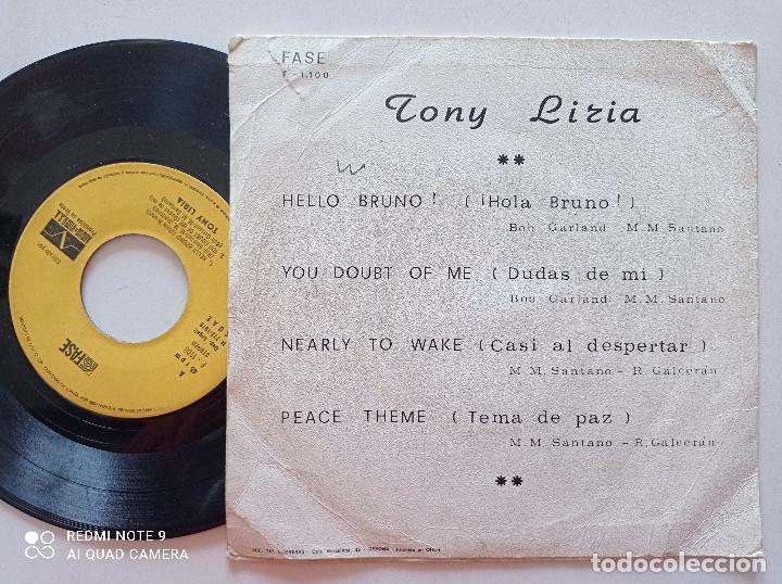 Discos de vinilo: TONY LIRIA - Hello Bruno +3 - EP FASE AUDIO Y VIDEO 1976 - Foto 2 - 252286315
