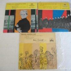 Discos de vinilo: LOTE 2 EPS DEL CORO COSACOS DEL DON + 1 SINGLE CANCIONES FOLKLORICAS RUSAS, VER FOTOS. Lote 252290255