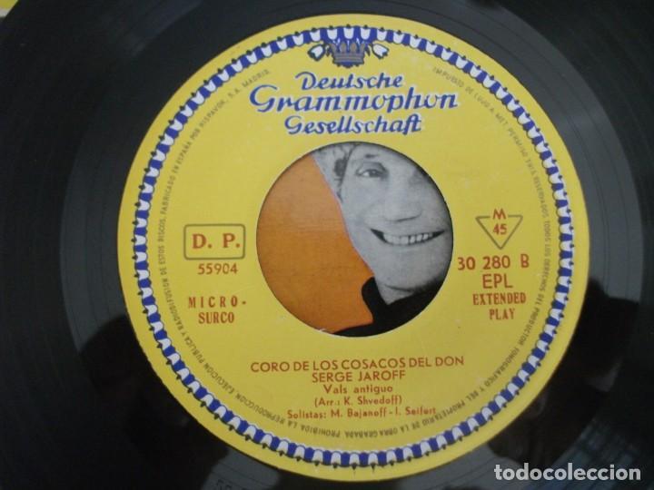 Discos de vinilo: LOTE 2 EPS DEL CORO COSACOS DEL DON + 1 SINGLE CANCIONES FOLKLORICAS RUSAS, VER FOTOS - Foto 10 - 252290255