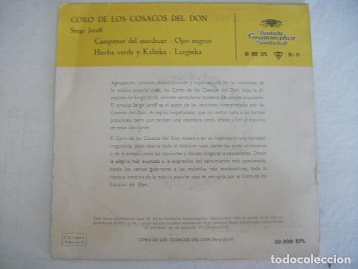 Discos de vinilo: LOTE 2 EPS DEL CORO COSACOS DEL DON + 1 SINGLE CANCIONES FOLKLORICAS RUSAS, VER FOTOS - Foto 12 - 252290255