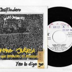 """Discos de vinilo: JOHNNY JUERGA Y LOS QUE REMONTAN EL PISUERGA 7"""" SPAIN 45 POR EL DESFILADERO 1987 SINGLE VINILO ROCK. Lote 252292715"""