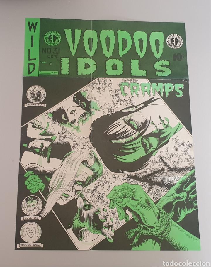Discos de vinilo: EP THE CRAMPS - Voodoo Idols - 1st Press 1980s - ULTRA RARE CRAMPS ITEM!! - Foto 3 - 252308190