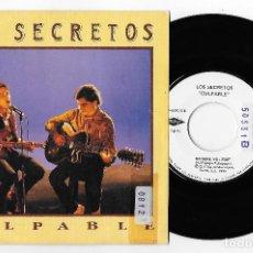 """Discos de vinilo: LOS SECRETOS 7"""" SPAIN 45 CULPABLE 1990 SINGLE VINILO POP ROCK ENRIQUE URQUIJO PRODUCCIONES TWINS VER. Lote 252309680"""
