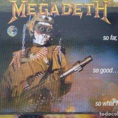Disques de vinyle: MEGADETH. SO FAR, SO GOOD... SO WHAT. SPAIN 1988.. Lote 252350805