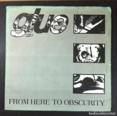 Discos de vinilo: GLUE - FROM HERE TO OBSCURITY - EP UK 1994 - FEEBLE (GATEFOLD). Lote 252363915