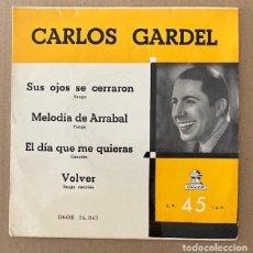 Discos de vinilo: CARLOS GARDEL. Lote 252373375