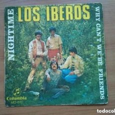 Discos de vinilo: IBEROS - NIGHTIME (SG) 1969. Lote 252376050