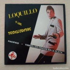 Discos de vinilo: LOQUILLO Y LOS TROGLODITAS - TODOS LOS CHICOS EN LA PLAYA HACEN SURF / PACIFICO / NO BAILES...EP. Lote 252391415