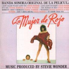 Discos de vinilo: MUJER DE ROJO - BANDA SONORA ORIGINAL / STEVIE WONDER / LP ORION DE 1984 / BUEN ESTADO RF-9446. Lote 252434465