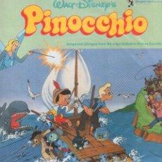 Discos de vinilo: PINOCCHIO - SONIDOS Y DIALOGOS ORIGINALES DE LA PELICULA DE WALT DISNEY'S / LP DE 1955. RF-9453. Lote 252436195