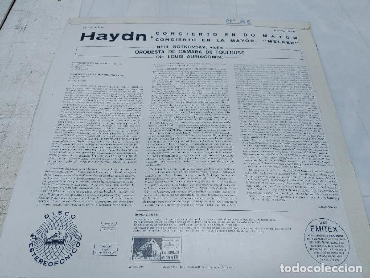 Discos de vinilo: LP HAYDN - MELKER - NELL GOTKOVSKY, VIOLÍN - ORQUESTA DE CÁMARA DE TOULOUSE - DIR. LOUIS AURIACOMBE - Foto 2 - 252470425