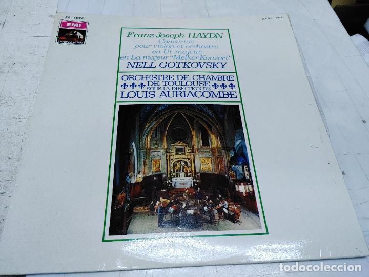 LP HAYDN - MELKER - NELL GOTKOVSKY, VIOLÍN - ORQUESTA DE CÁMARA DE TOULOUSE - DIR. LOUIS AURIACOMBE (Música - Discos - LP Vinilo - Clásica, Ópera, Zarzuela y Marchas)