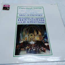 Discos de vinilo: LP HAYDN - MELKER - NELL GOTKOVSKY, VIOLÍN - ORQUESTA DE CÁMARA DE TOULOUSE - DIR. LOUIS AURIACOMBE. Lote 252470425