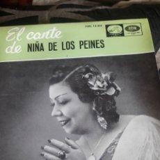 Discos de vinilo: ANTIGUO VINILO, EL CANTE DE LA NIÑA DE LOS PEINES, A ESTRENAR. Lote 252479085