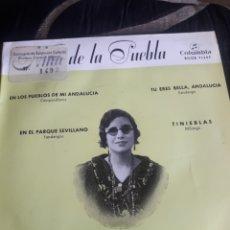 Discos de vinilo: ANTIGUO VINILO, NIÑA DE LA PUEBLA, A ESTRENAR. Lote 252479985