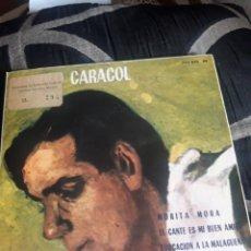 Discos de vinilo: ANTIGUO VINILO DE MANOLO CARACOL, A ESTRENAR. Lote 252482435