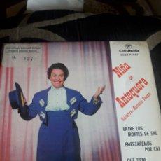 Discos de vinilo: ANTIGUO VINILO, NIÑA DE ANTEQUERA, A ESTRENAR. Lote 252482930