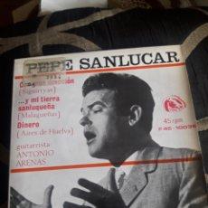 Discos de vinilo: ANTIGUO VINILO,PEPE SANLUCAR, A ESTRENAR. Lote 252484860