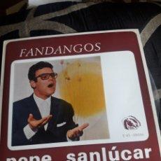 Discos de vinilo: ANTIGUO VINILO, PEPE SANLUCAR, FANDANGOS, A ESTRENAR. Lote 252485560
