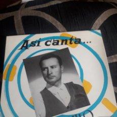 Discos de vinilo: ANTIGUO VINILO, ASÍ CANTA ANGELILLO, A ESTRENAR. Lote 252486505