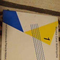 Discos de vinilo: MÚSICA CORAL MALLORQUINA. CORAL UNIVERSITARIA PALMA DE MALLORCA. LP VINILO BUEN ESTADO.. Lote 252542890
