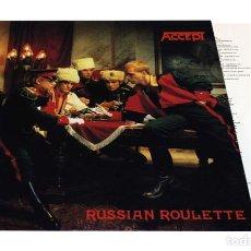 Discos de vinilo: V1627 - ACCEPT. RUSSIAN ROULETTE. LP VINILO.. Lote 252552410