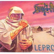 Discos de vinilo: V1626 - DEATH. LEPROSY. LP VINILO. COMO NUEVO. Lote 252554165