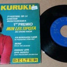 Discos de vinilo: ZOI KURUKLI / MIN LES TIPOTA + 3 / EP 7 PULGADAS. Lote 252579840
