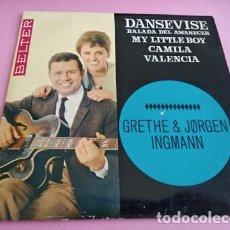 Discos de vinil: GRETHE & JORGEN INGMANN - DANSEVISE + 3 EP 1963 EUROVISION DINAMARCA. Lote 252616485