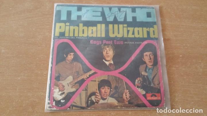 SINGLE THE WHO PINBALL WIZARD DOGS PART II POLYDOR AÑO 1969 FIRMADO DALTREY ? (Música - Discos - Singles Vinilo - Pop - Rock Internacional de los 50 y 60)