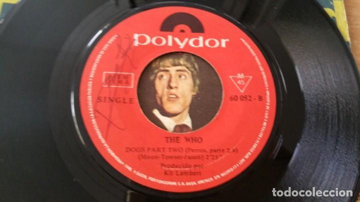 Discos de vinilo: Single THE WHO PINBALL WIZARD DOGS PART II POLYDOR AÑO 1969 FIRMADO DALTREY ? - Foto 6 - 252658315