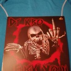 Discos de vinilo: DJ KBO FUCK YOU LP VINILO NUEVO DANCE HARD HOUSE. Lote 252658795