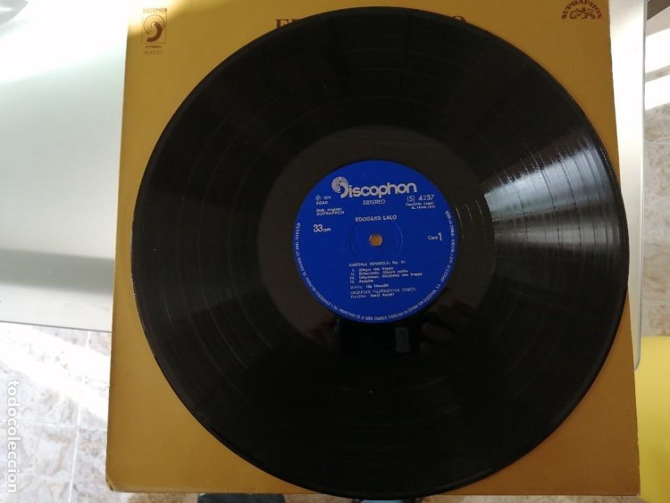 Discos de vinilo: EDUARDO LALO - SINFONIA ESPAÑOLA OP. 21 - Foto 3 - 252659780