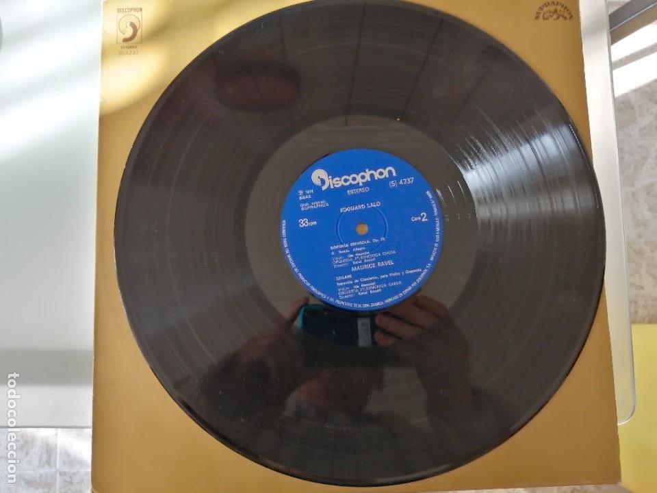 Discos de vinilo: EDUARDO LALO - SINFONIA ESPAÑOLA OP. 21 - Foto 4 - 252659780