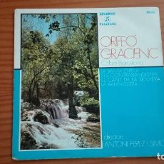 Discos de vinilo: ORFEÓ GRACIENC COBLA BARCELONA EP LA SANTA ESPINA + 3 ANTONI PÉREZ I SIMÓ COLUMBIA 1975. Lote 252671015