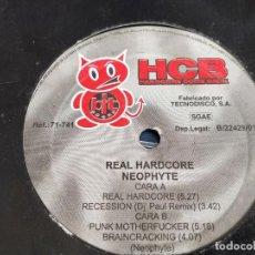 "Discos de vinilo: NEOPHYTE - REAL HARDCORE (12"", RE) SELLO:HARDCORE COME BACK CAT. Nº: 71-741. VG / GENERICA. Lote 252678640"