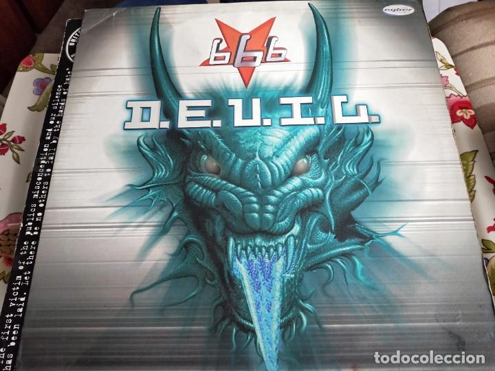"666 - D.E.V.I.L (12"") SELLO:CYBER MUSIC CAT. Nº: VLMX 232-3. VG+ / VG+ (Música - Discos de Vinilo - Maxi Singles - Punk - Hard Core)"