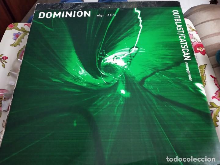 "OUTBLAST & CATSCAN / DOMINION -STAMPGEVAAR / REIGN OF FIRE (12"") THE THIRD MOVEMENT VG++ / NEAR MINT (Música - Discos de Vinilo - Maxi Singles - Punk - Hard Core)"