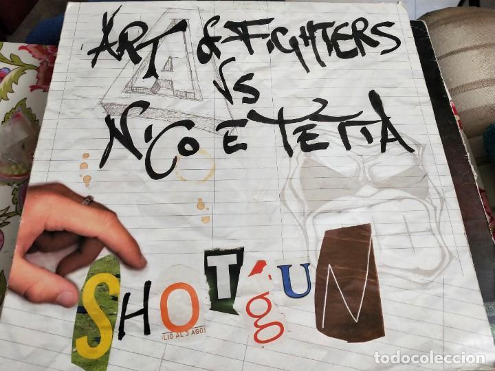 """ART OF FIGHTERS VS. NICO E TETTA - SHOTGUN (12"""") SELLO:TRAXTORM RECORDS TRAX 0031. VG / VG+ (Música - Discos de Vinilo - Maxi Singles - Punk - Hard Core)"""